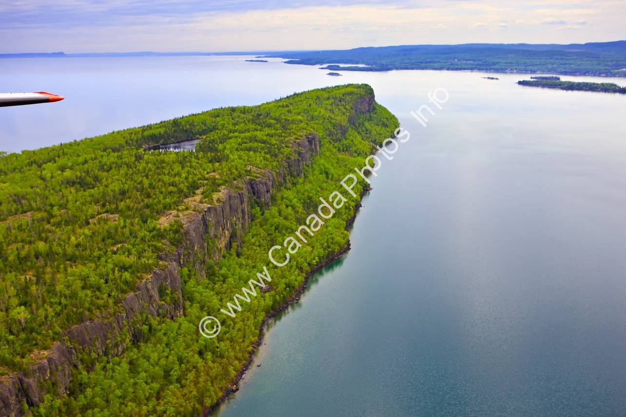 Photo Aerial Cliffs Caribou Island Lake Superior