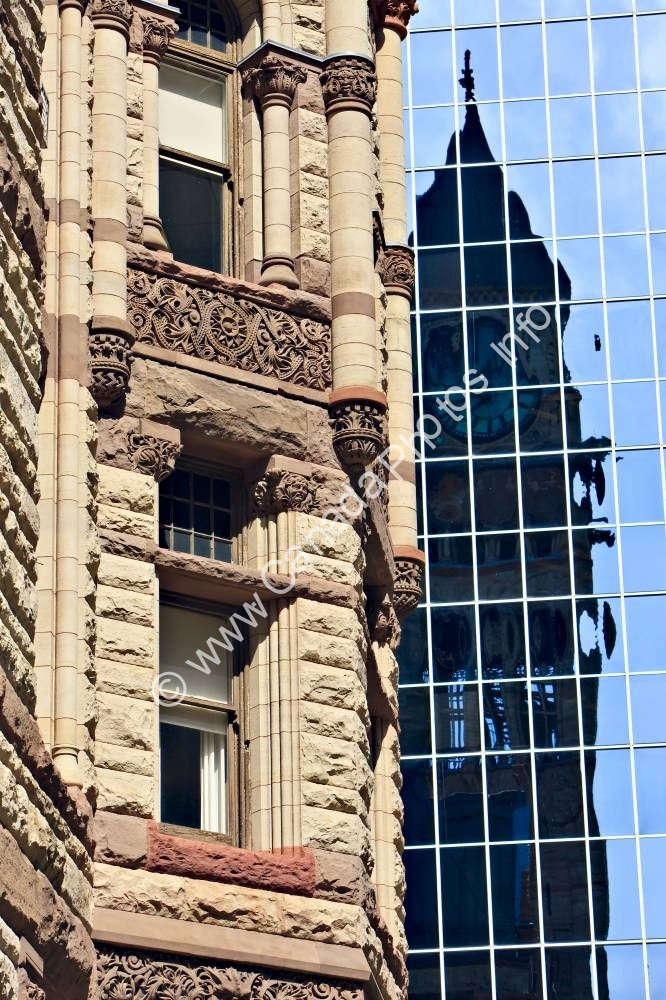 Photo Architectural Details Old City Hall Modern Office Building Toronto
