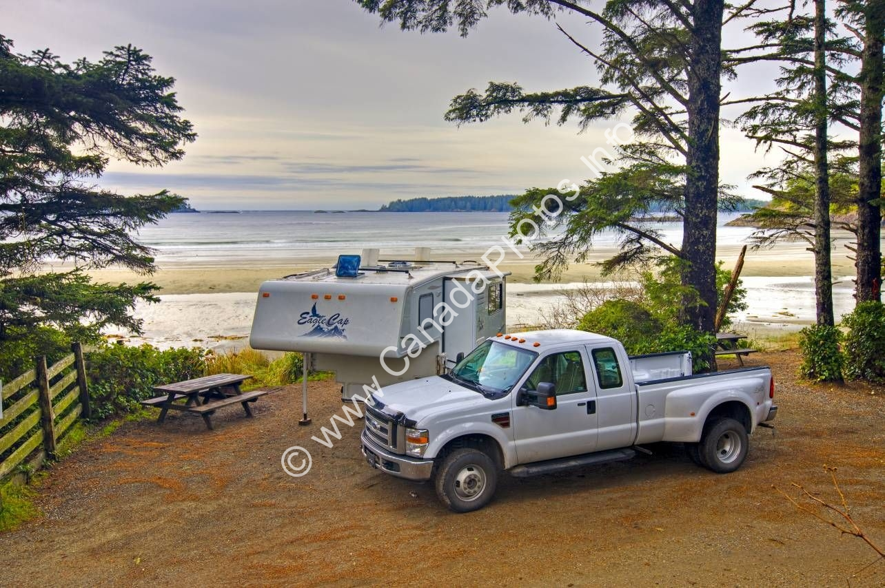 Photo Beach Camping Tofino Vancouver Island