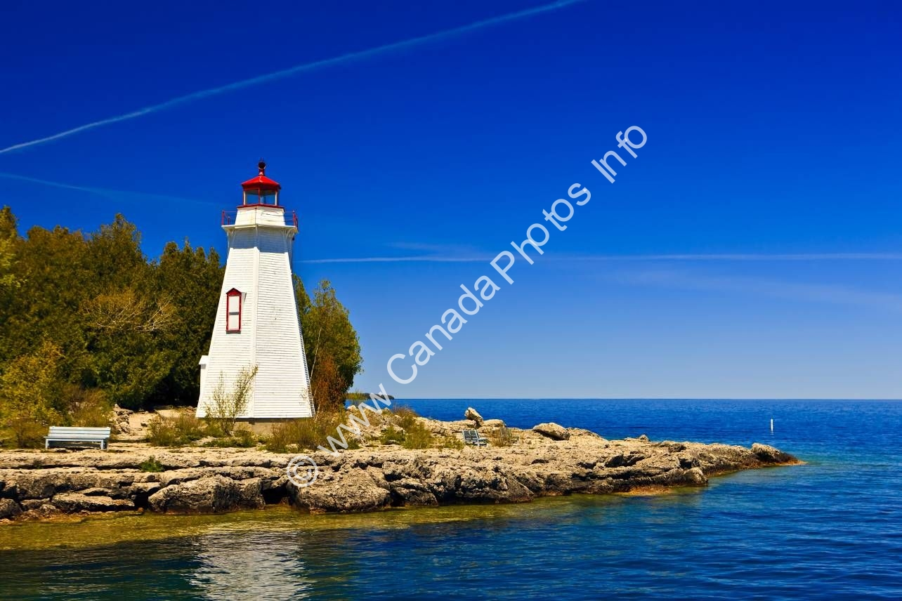 Photo Big Tub Lighthouse Tobermory Lake Huron Ontario