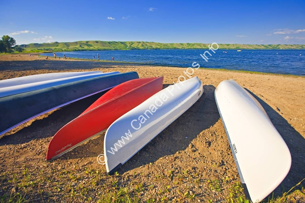 Photo Canoes Echo Lake Qu'Appelle Valley Saskatchewan