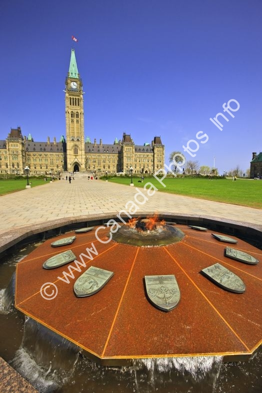 Photo Centennial Flame Parliament Ottawa