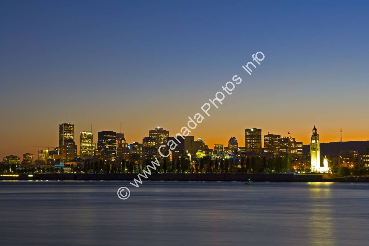 Photo Cityscape Montreal City Quebec Canada