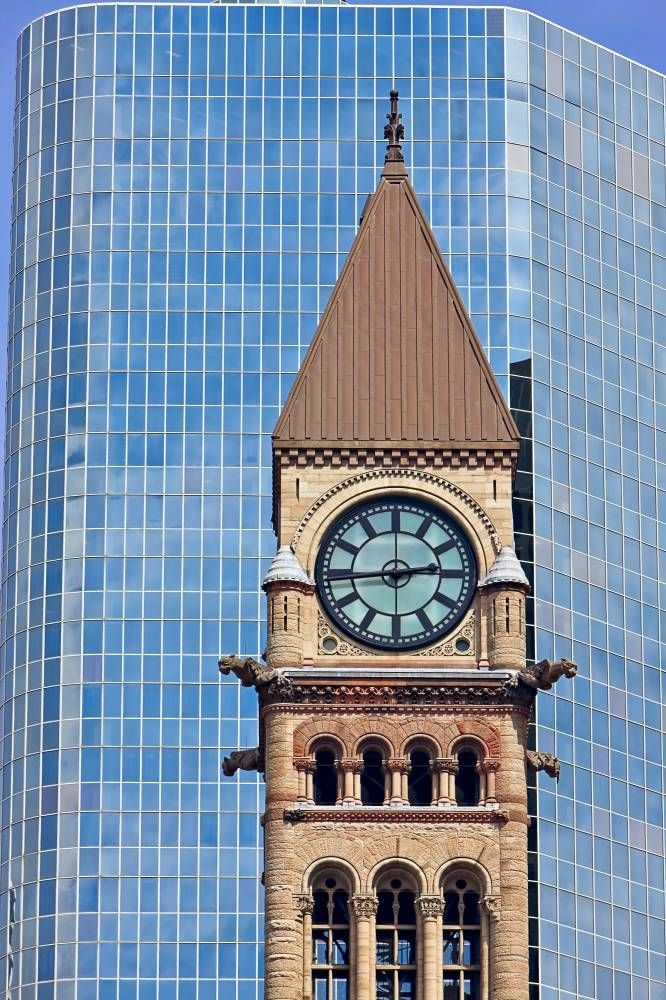 Photo Clock Tower Old City Hall Toronto Ontario