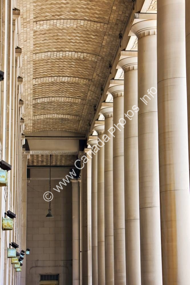 Photo Architectural Columns Main Train Station Toronto