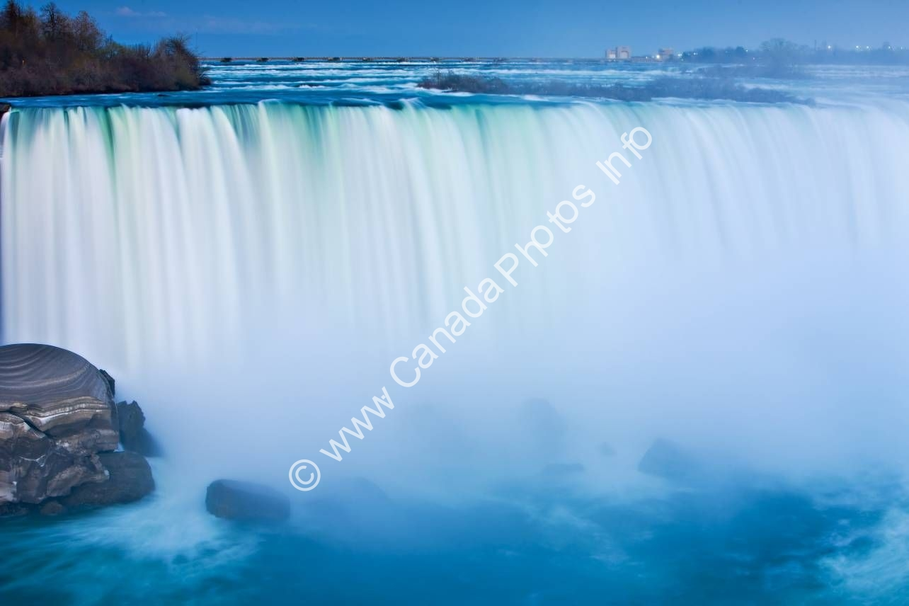 Photo Waterfall Dusk Horseshoe Falls Niagara Falls