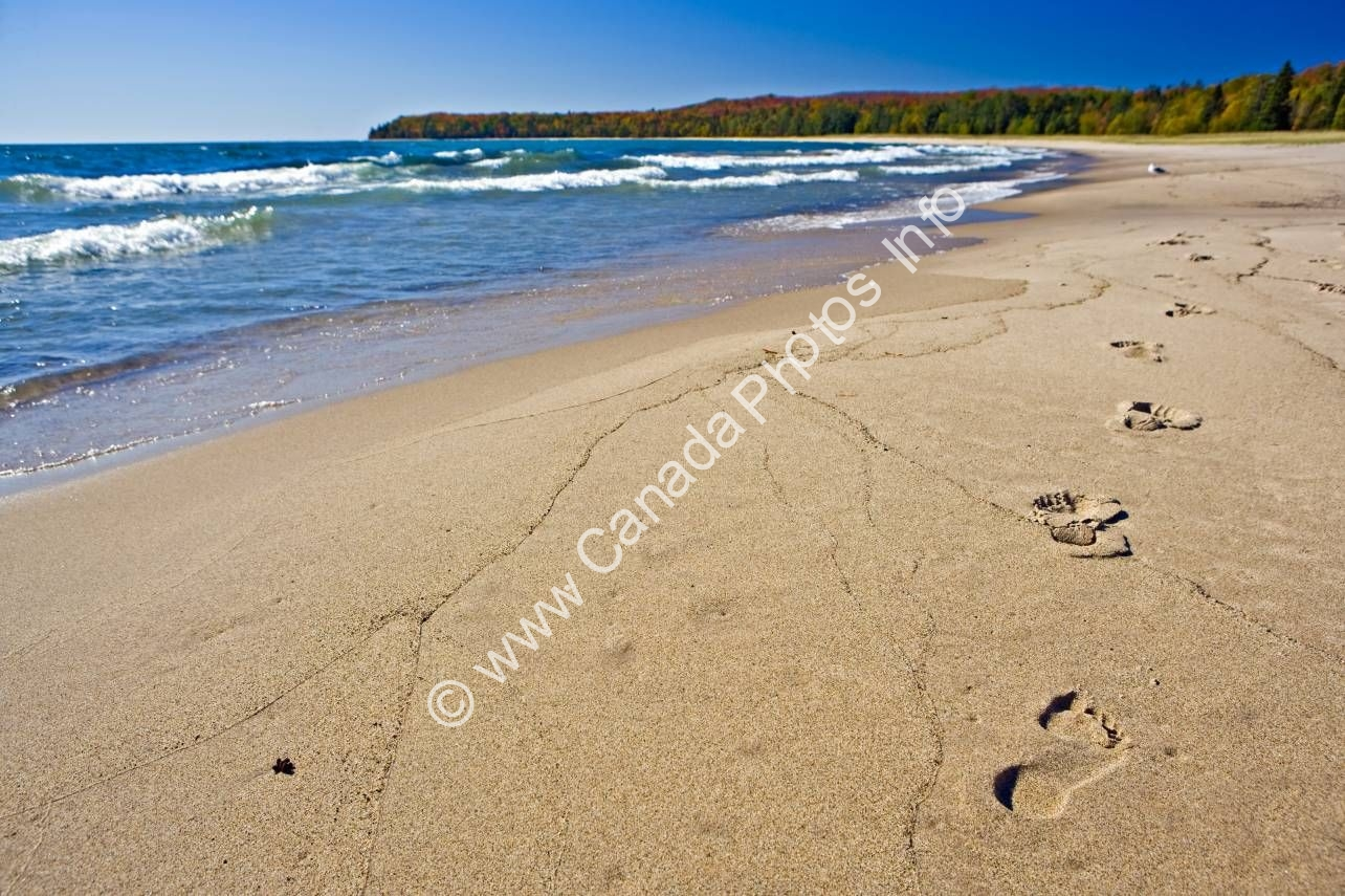 Photo Footprints Sand Beach Lake Superior