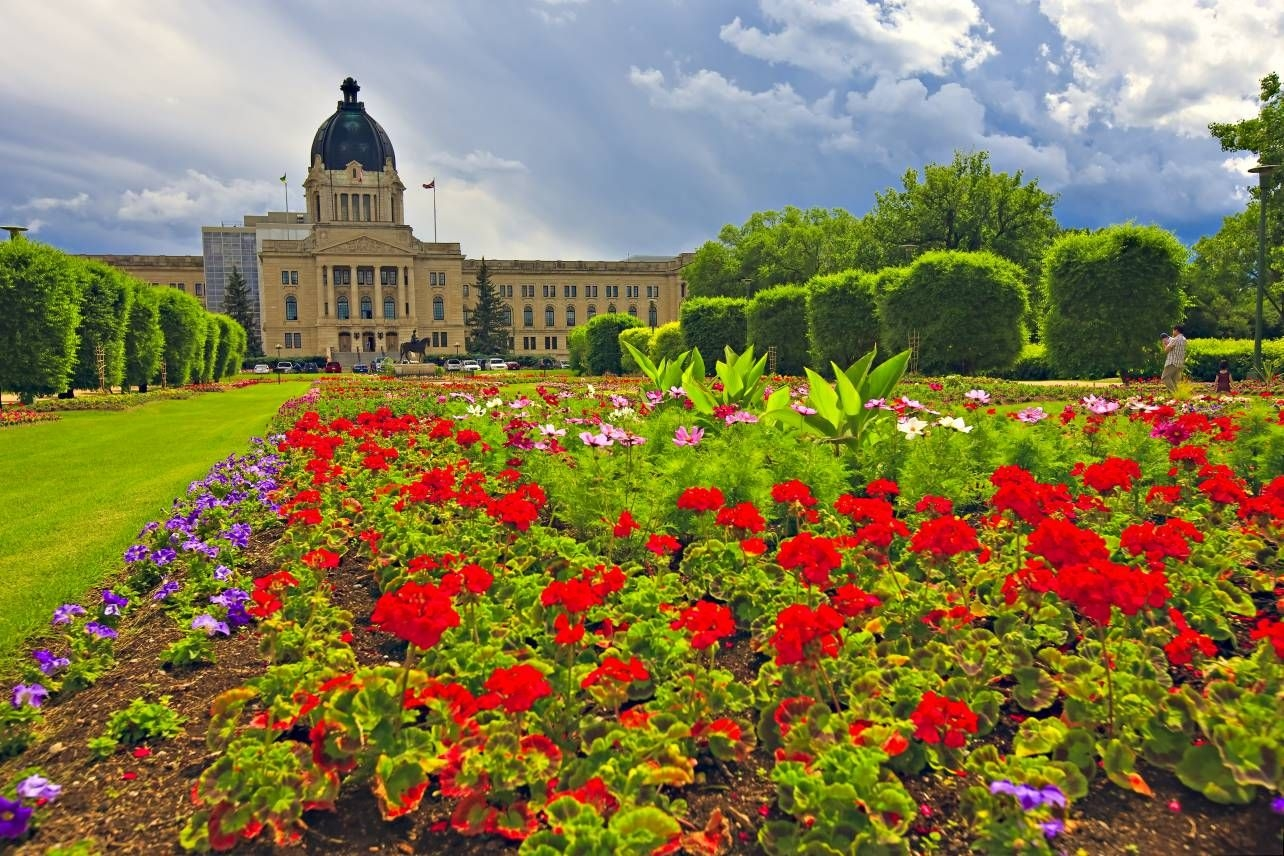Photo Gardens Legislative Building Regina