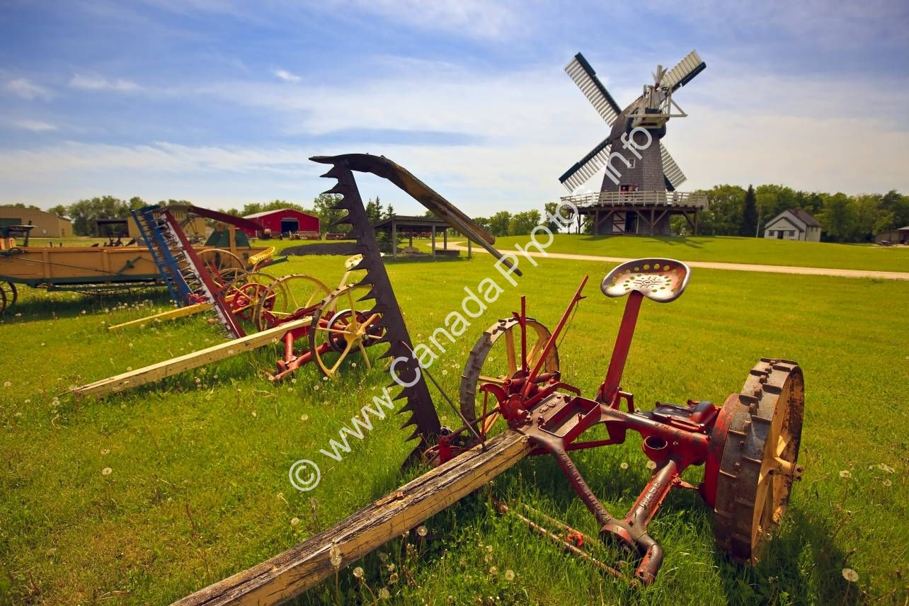 Photo Historic Windmill Mennonite Hertitage Village Steinbach Manitoba