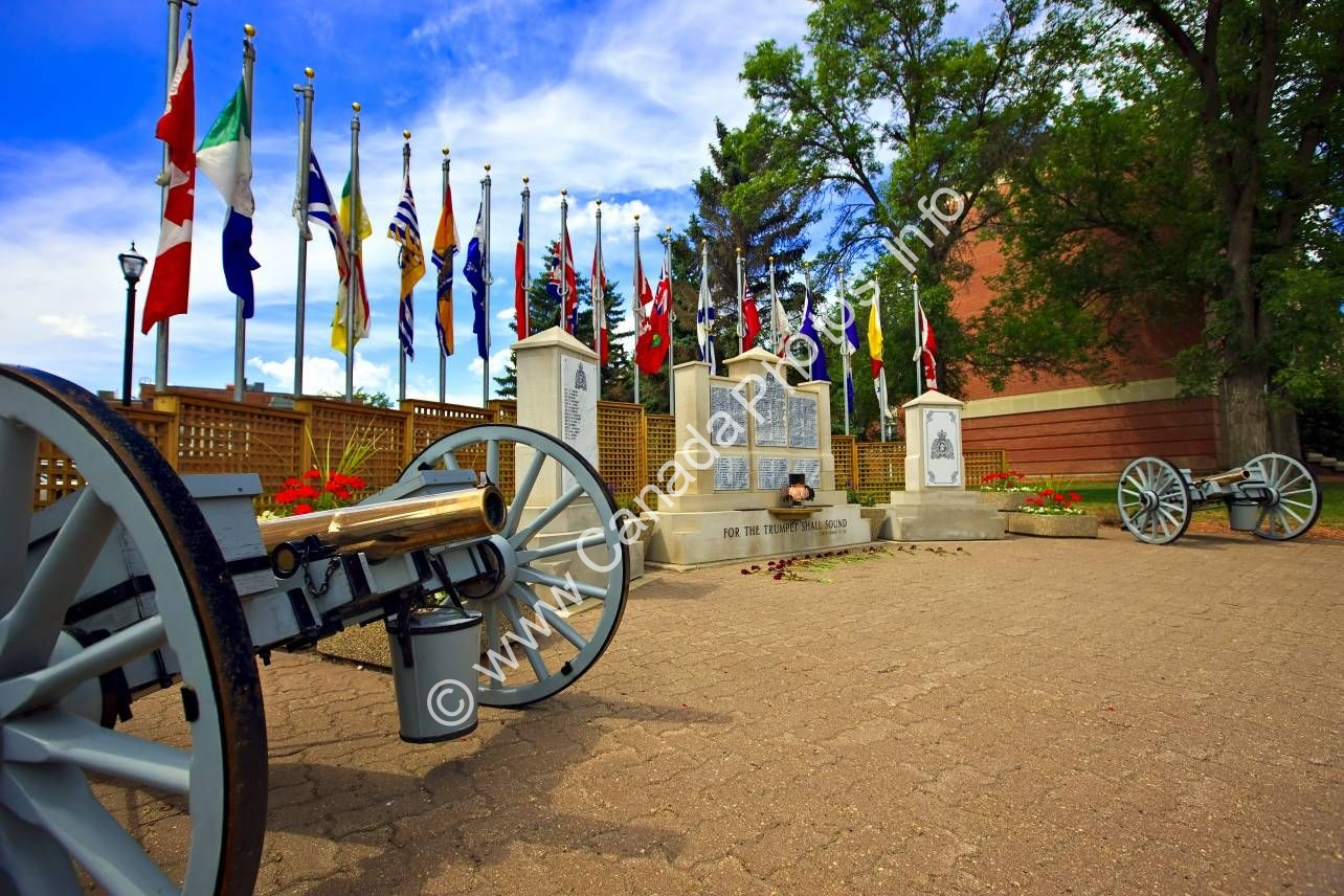 Photo Flags Monument RCMP Academy Regina
