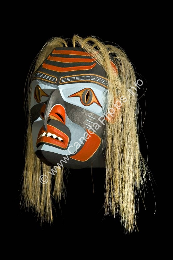 Photo Native Art Shark Mask