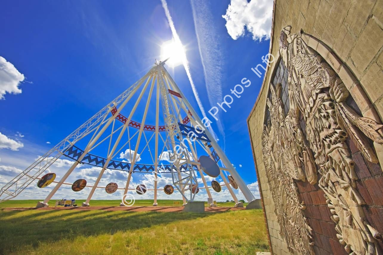 Photo Native culture landmark Saamis Teepee Alberta