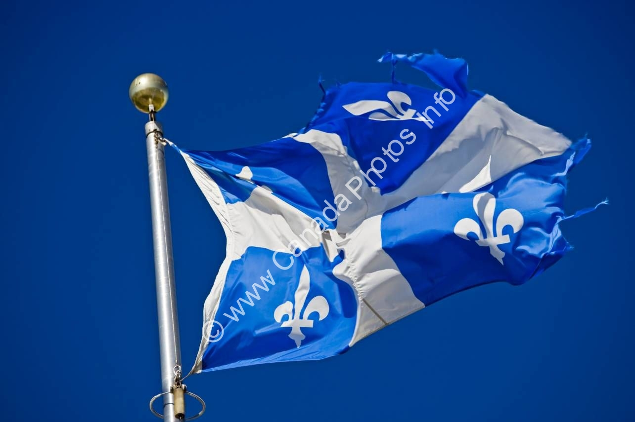 Photo Official Flag Quebec Canada