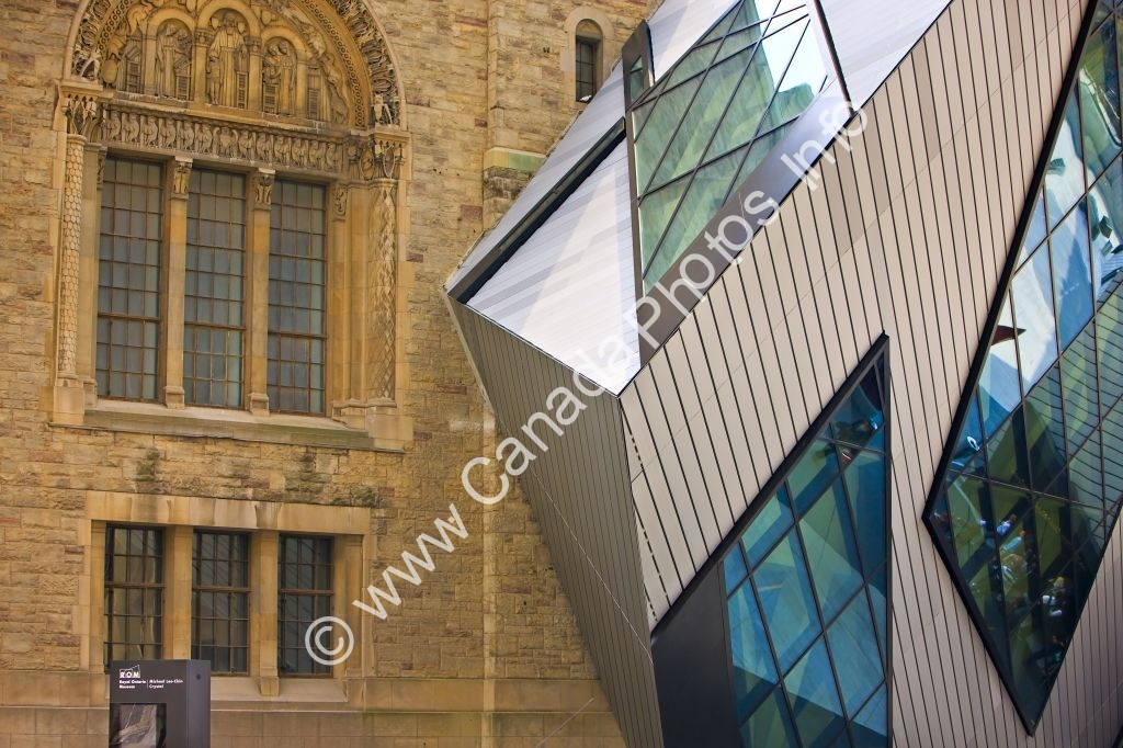 Photo Old And New Architecture Royal Ontario Museum Toronto