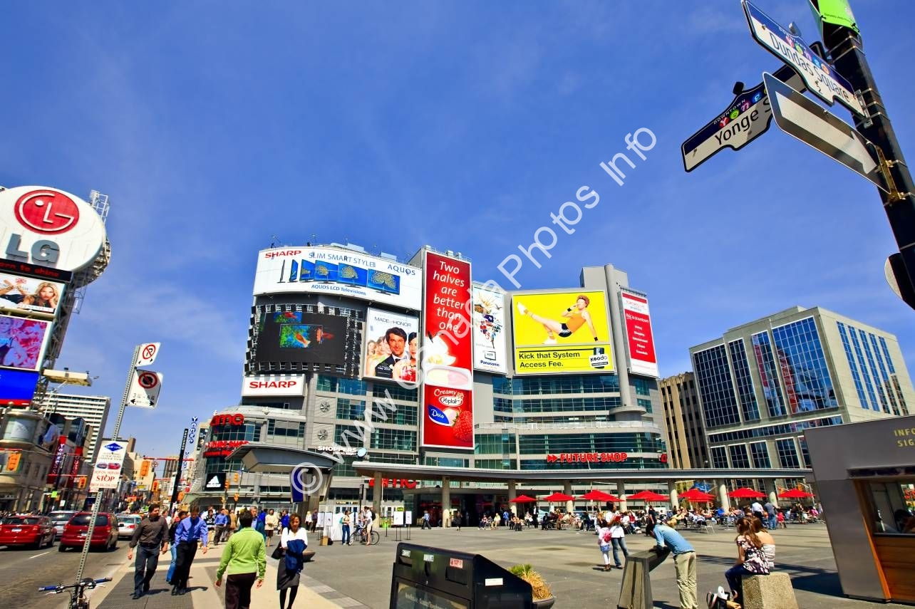 Photo Photo Dundas Square Toronto Ontario