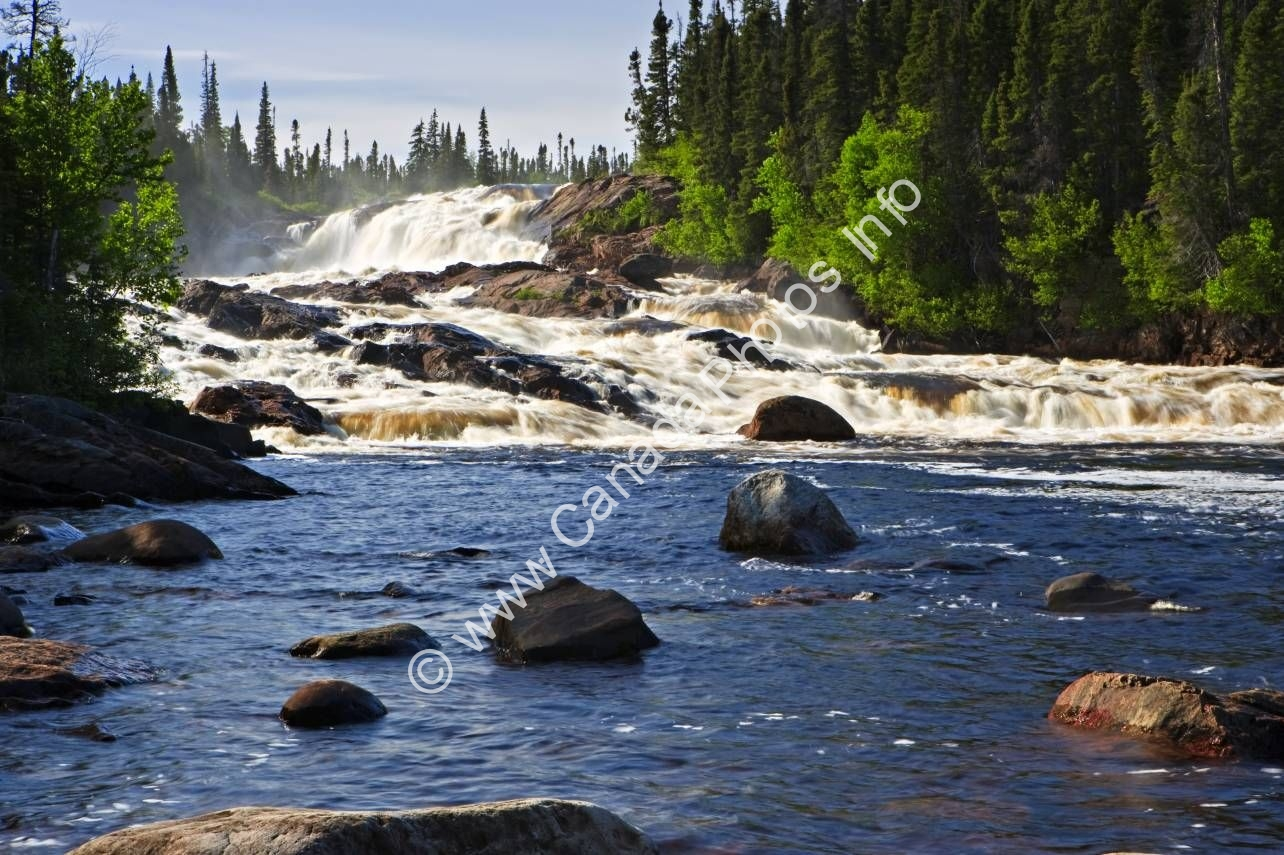 Photo Scenic Landscape Waterfall White Bear River Falls