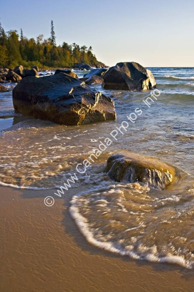 Photo Scenic Photo Lake shore Lake Superior Ontario