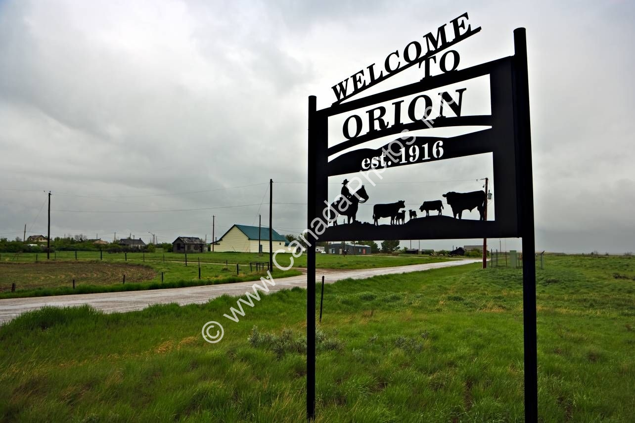 Photo Southern Alberta Prairie Town Orion