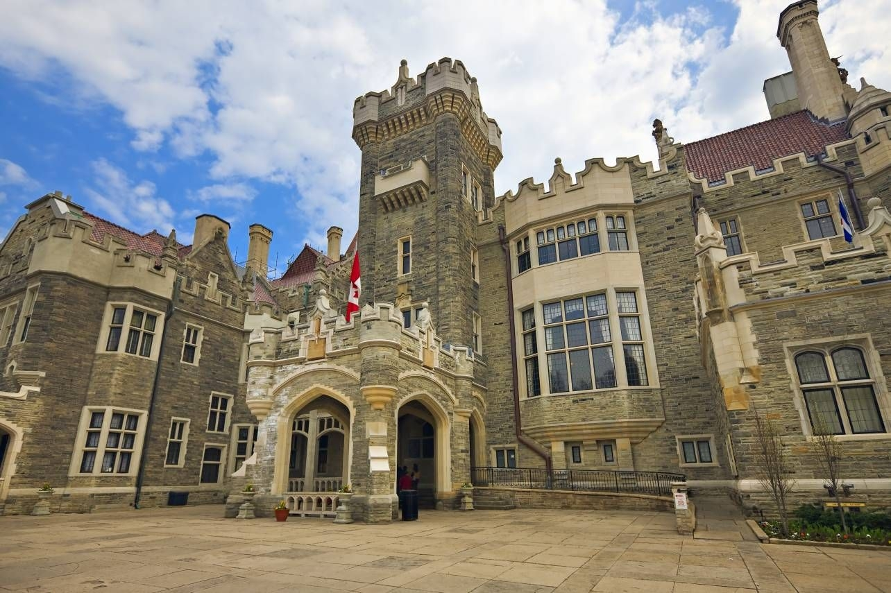 Photo Tourist Attrction Medieval Style Castle Casa Loma Toronto