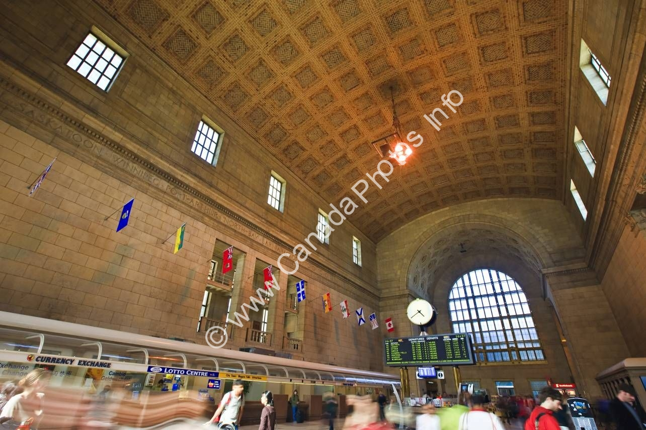 Photo Union Station Rail Station Downtown Toronto Ontario