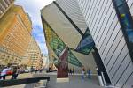 What a contrast in Toronto, the old and modern architecture around the Lee-Chin Crystal in the city of Toronto.