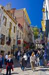 Old Quebec City is a famous tourist and cruise ship destination, visitors using the opportunity to stroll through the old historic part of Quebec City.