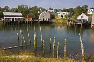 A typical small Grand Manan Island harbor can be found at Seal Cove, New Brunswick