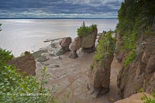 One of the main tourist attractions in New Brunswick are the extreme tides at Hopewell Rocks.