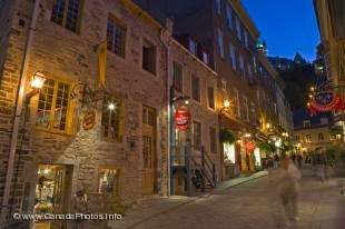 These stone buildings are typical for the old part of Quebec City and one of the many tourist attractions in Quebec City.