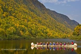 Beautiful landscape and nature can be found in Parc National de la Jacques-Cartier in Quebec, Canada.
