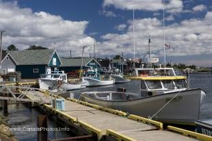 A typical scene on Prince Edward Island are small harbors and small fishing boats.