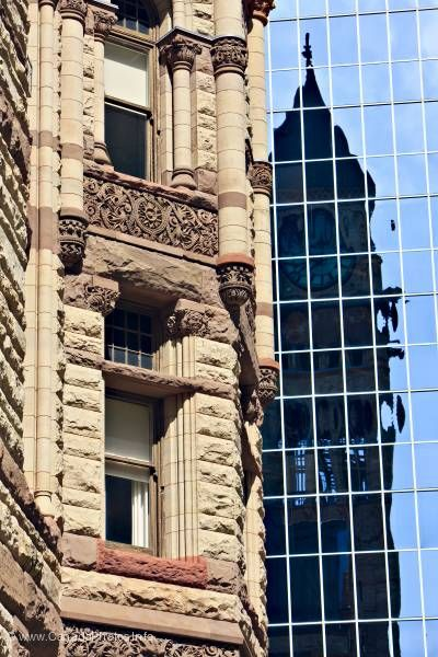 photo of Architectural Details Old City Hall Modern Office Building Toronto