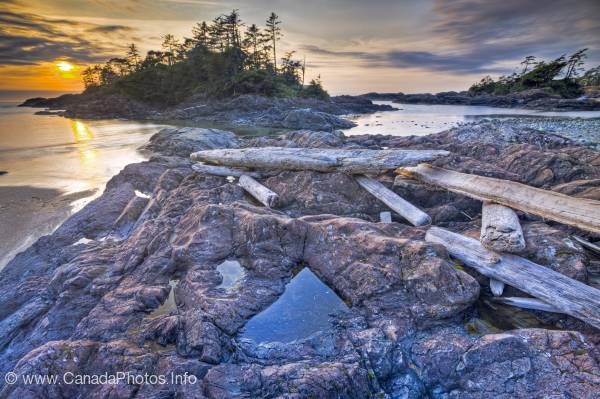 photo of Vancouver Island Beach Sunset West Coast