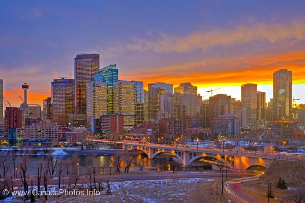 photo of City of Calgary sunset Alberta