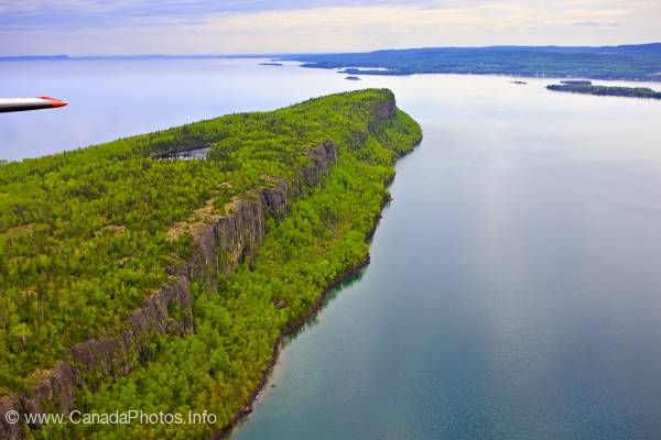 photo of Aerial Cliffs Caribou Island Lake Superior