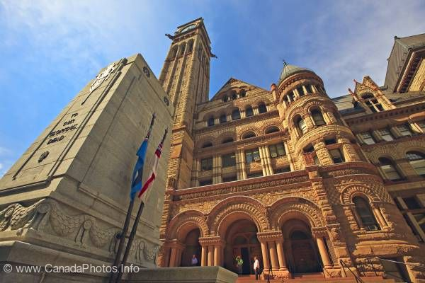 photo of Architecture Photo Old City Hall Cenotaph Toronto