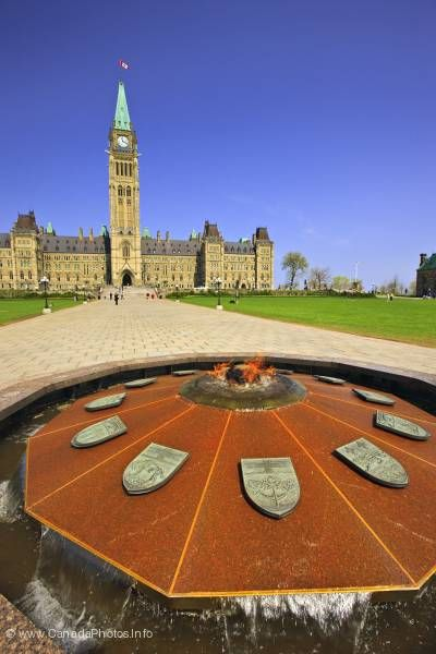 photo of Centennial Flame Parliament Ottawa