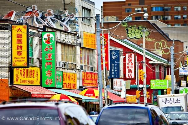 photo of Chinatown Street Signs Toronto