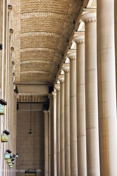 photo of Architectural Columns Main Train Station Toronto