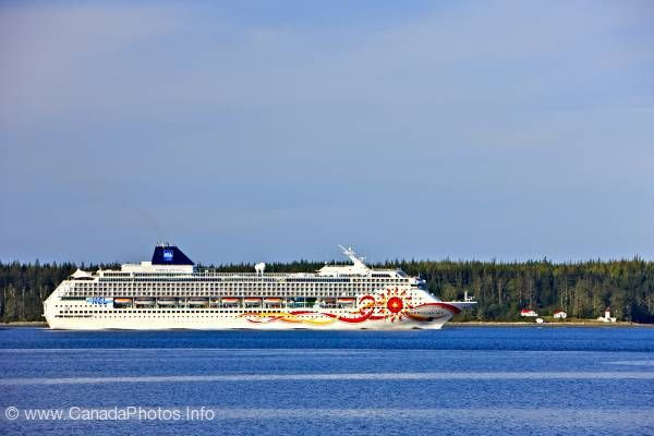 photo of Cruise ship inside passage Vancouver Island British Columbia