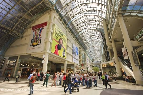 photo of Indoor Shopping Mall Eaton Centre Ontario Canada