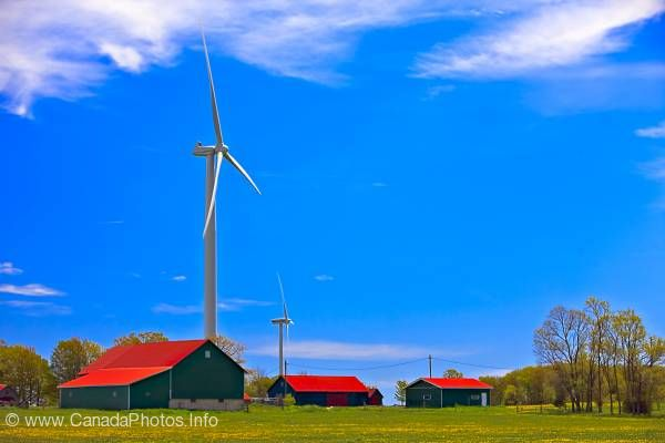 photo of Green Energy Windmill Farmland Bruce Peninsula Ontario