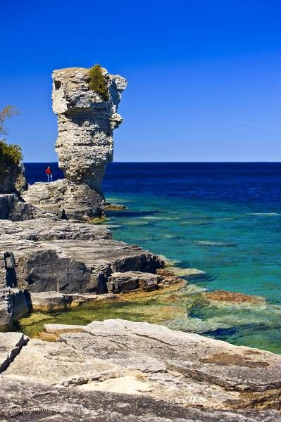 photo of Sea Stack Flowerpot Island Lake Huron Ontario