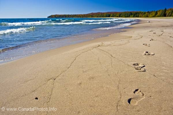 photo of Footprints Sand Beach Lake Superior