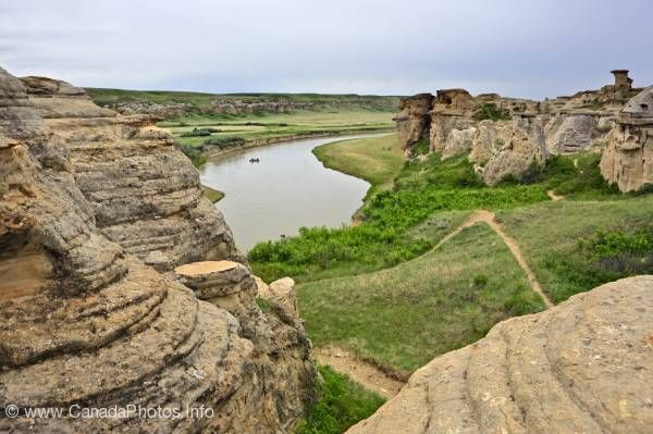 photo of Hoodoos Writing On Stone Provincial Park Alberta Prairie