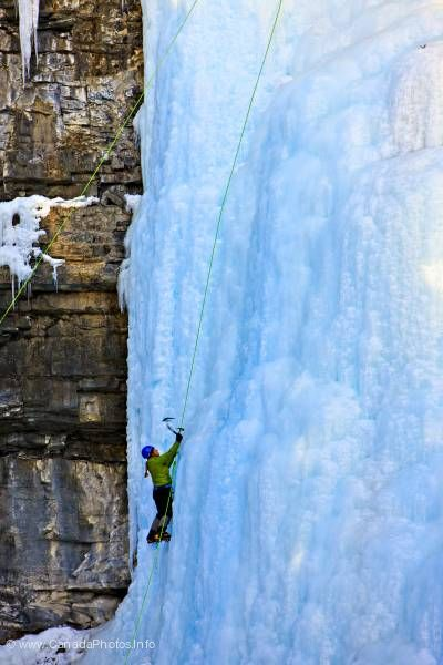 photo of Ice climbing Johnstone Canyon Banff National Park