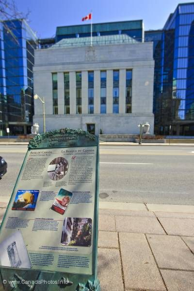 photo of Information Sign Bank of Canada Building Ottawa