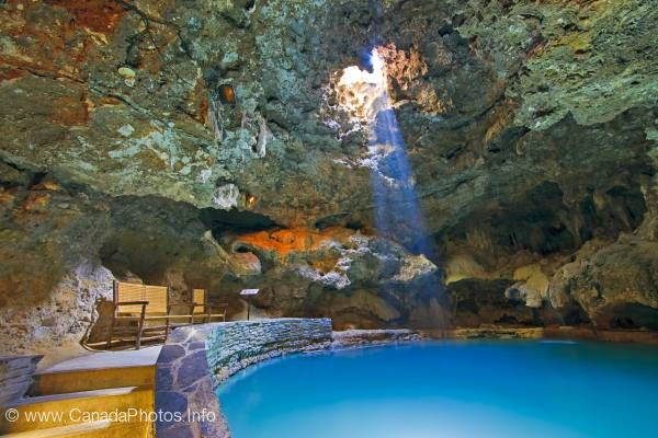 photo of Light beam Cave Spring Mineral Pool