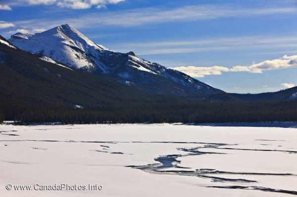 photo of Medicine Lake Winter Picture Jasper National Park