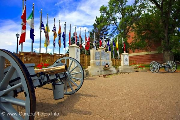 photo of Flags Monument RCMP Academy Regina